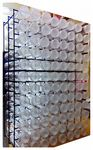 0S96 Button Tube Display Stand - Filled or Unfilled - 96 Spaces